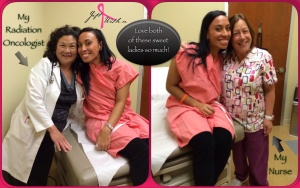 My Radiation Oncologist  and Nurse...