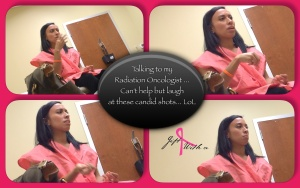 Candid shots during my visit with my radiation oncologist....