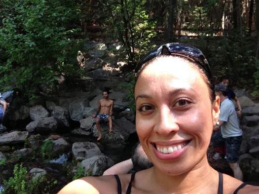 A quick selfie after an invigorating dip in Fairy Falls :)