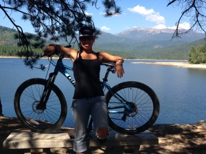 Me+My bike+lake siskiyou= awesomeness!!! :D