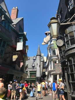 A little summer fun in Hogwarts. Taking the wand for a good ole spin. :D (Orlando, Florida)